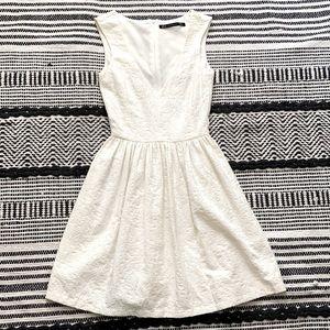 Zara White Dress Midi Dress XS